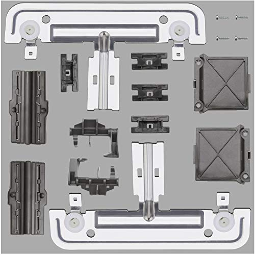W10712395 Dishwasher Upper Rack Adjuster Metal Kit Compatible with whirlpool kitchenaid kenmore, Upgraded Dishwasher Top Rack Replaces for AP5957560, W10350375, W10250159, PS10065979, wdt750sahz0