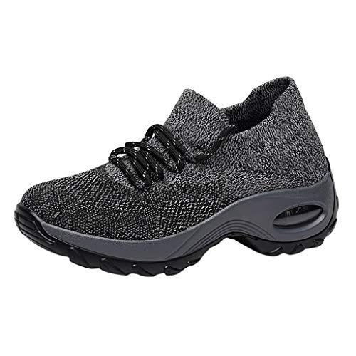 Mode Freizeit Laufsport Socken Schuhe Damen Student Beiläufig Elastisch Leichtgewichtige Turnschuhe Mädchen Sport Schuhe Stiefeletten Slip On Schuhe Net Schuh