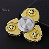 HBBOOI Finger Spinner Stainless Steel Hand Spinner Gyro High Speed Stainless Steel Bearing Body Anxiety Relief Toys Gyro Metal Adult Child Toy Luminous Hand Turn Gyro Stress Reliever (Color : Gold)