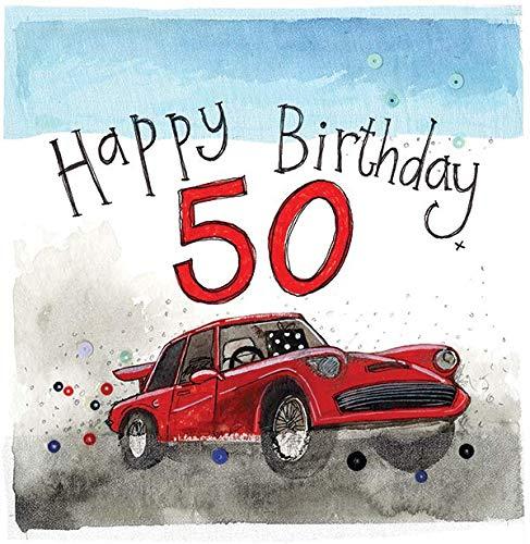 Alex Clark - Tarjeta de 50 cumpleaños para coche
