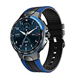Smart Watch for Android and iOS Phones Smart Watches for Women Men Fitness Tracker with Heart Rate Monitor Fitness Watch Waterproof Round Smart Watch with Custom Watch Faces (Blue)