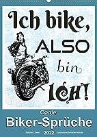 Coole Biker-Sprueche (Wandkalender 2022 DIN A2 hoch): Sprueche rund ums Motorradfahren (Monatskalender, 14 Seiten )