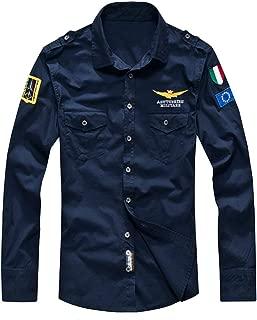 Men's Flight Shirts Jacket Casual Long Sleeve Lightweight Shirt Jackets