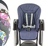 BambiniWelt Sitzkissen Ersatzbezug Kissen Bezug für Peg Perego Tatamia (blau meliert) XX