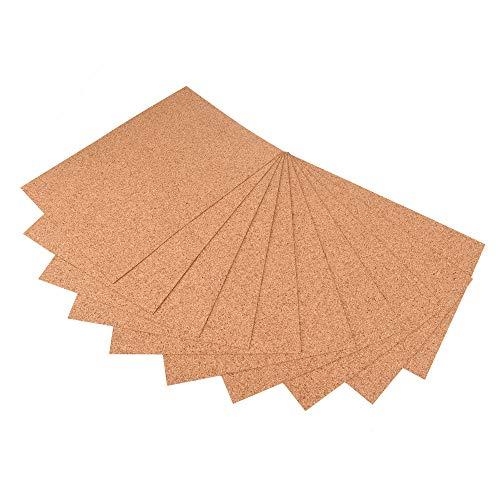 ewtshop® 10 placas de corcho en formato DIN 4, 1 mm de grosor para manualidades, tarjetas, decoración de mesa y mucho más