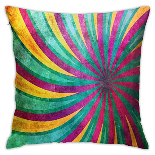 N/A Pillow Sham,Throw Pillow Case,Pillow Protector,Square Throw Pillow Covers,Yellow And Emerald Rays Modern Design Pillow Cushion Sham Case Two Sides Print