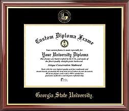Laminated Visuals Georgia State University Panthers - Embossed Seal - Mahogany Gold Trim - Diploma Frame