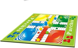 Ludo Board Game - 92x70x0.3 CM Giant Playing Mat, Weatherproof-Plastic Material, Learning Dice Fun Activity, Indoor & Outd...