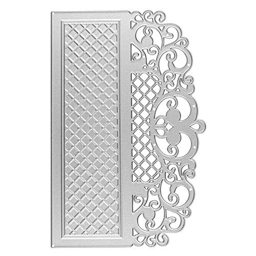 Präge- & Stanzschablone, Bordüre 1, 14,3cm x 9,4cm, passend für gängige Präge- & Stanzmaschinen | Schablone zum Gestalten von Zierkanten