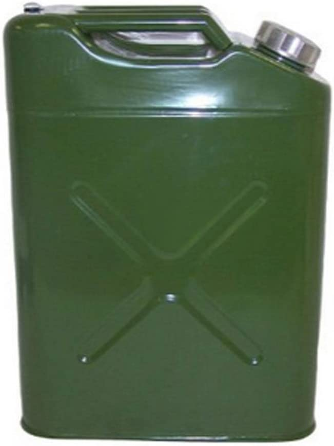 Army Green Cimiva 20L 5 Gallon Gas Can US Standard Cold-Rolled Plate Petrol Diesel Can Gasoline Bucket with Oil Pipe