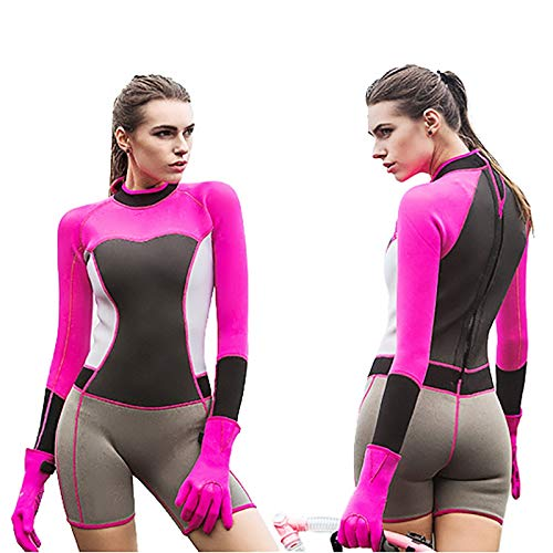 QSFDM Wetsuit Hisea 1.5mm Neopreen Scuba Duiken Wetsuits Eendelig Anti-UV 50+ voor Dames Zwemmen Snorkeling Surfen Duiken Jellyfish Wetsuit