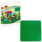 LEGO DUPLO Classic Base Verde Grande, Giocattolo per Bambini in Età Prescolare, 2304