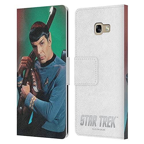 Head Case Designs Licenza Ufficiale Star Trek Harp Spock Cover in Pelle a Portafoglio Compatibile con Samsung Galaxy A5 (2017)