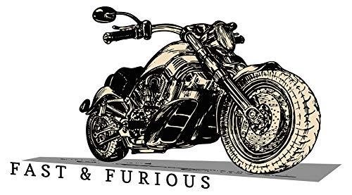 Wandtattoo USA Wandsticker Großes Motorrad in Chopper Form Amerika Wandtattoo z