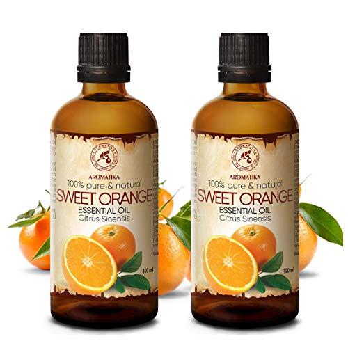 Aceite Esencial Naranja 200ml - 2x100ml - 100% Puro & Na