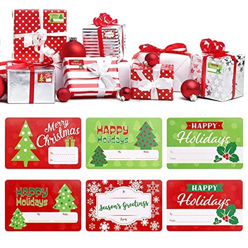 Etiquetas Navidad Nombre Marca Hileyu