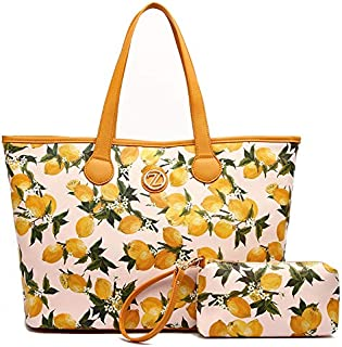 Zeneve London Mia Shopper Bag for Women, Multi Color
