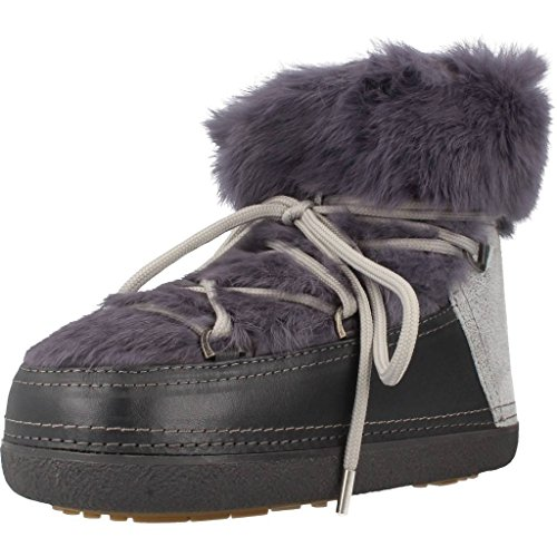 INUIKII Damen Stiefelleten Boots Rabbit Low Grau 40 EU