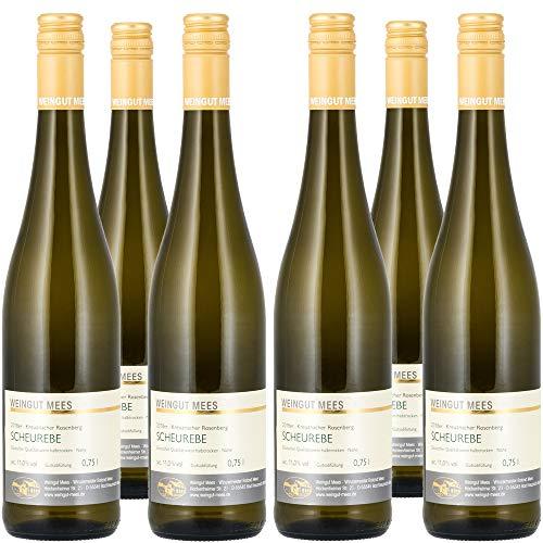 Weingut Mees SCHEUREBE HALBTROCKEN 2018 Weißwein Wein Deutschland Nahe Paket (6 x 750 ml) 100% Scheurebe