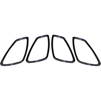 4Pcs Carbon Fiber Texture Interior Door Handle Bowl Trim Cover Fit for E90 3 Series 2005-2012 Acouto Interior Door Handle Bowl Trim