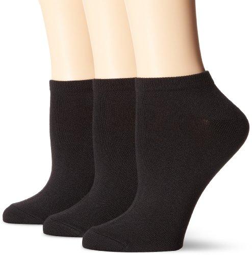 Hanes Women's Comfortsoft No Show, Black, Shoe Size 5-9 (Pack of 3)