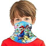 Funny Game - Polaina para cuello para niños y niñas, bandanas para la boca, pasamontañas, tubo para protección contra el polvo, tamaño único