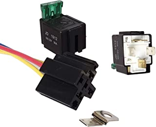 kaaka 4Pin 12V DC Electronic Relay Car with Socket Auto Vehicle Maintenance Common Replacement Part Automotive Accessory