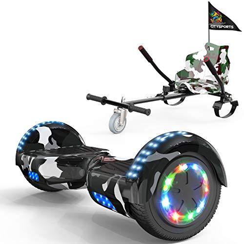 """Hoverboard 6,5 """" 700W con Ruedas de Flash LED, Altavoz Bluetooth y LED, Autoequilibrio de Scooter Eléctrico"""