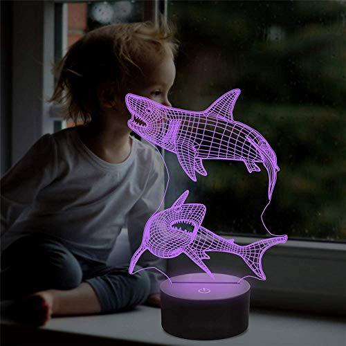 Lámpara de ilusión óptica 3D para niños con control remoto de 16 colores, ideal para regalo de cumpleaños para niños y niñas