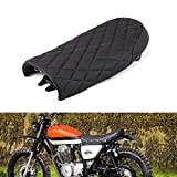 An Xin Selle de moto style losange vintage noir avec coussin pour Honda CG 125