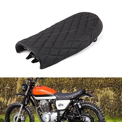 An Xin Motorrad Sitz Rhombus Gitter Stil Vintage Sattel schwarz Racer Kissen Sitz für Honda CG 125