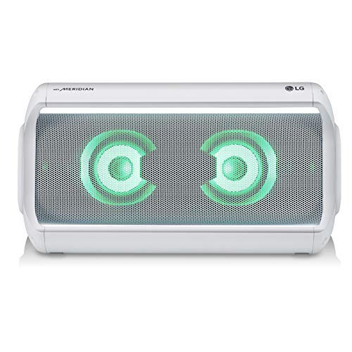 LG PK7W XBOOM Go Water-Resistant Wireless Bluetooth Party Speaker with Up To 22 Hours Playback - White