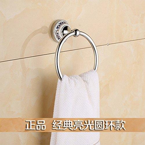 Hlluya Badkamer Accessoire Set Blauw-betegeld keramiek Handdoek Ring handdoekenrek Handdoek Ring Goud Zilver
