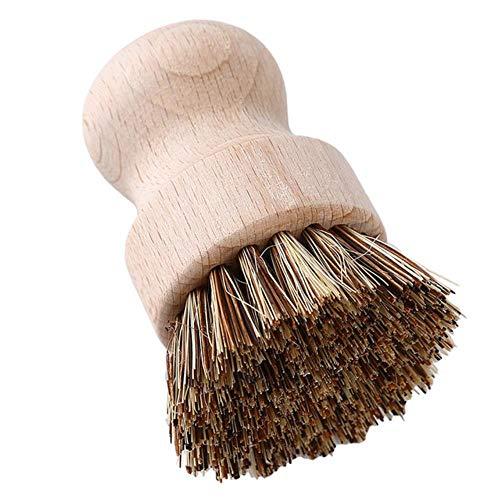 Heng schrobben Hittebestendige waspot Borstelkom Duurzaam vaatwasgereedschap Koekenpan Houten handvat Keukenbenodigdheden, Potborstel