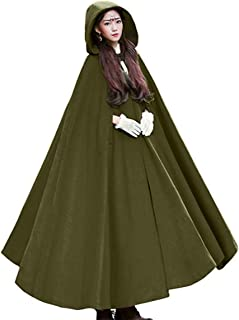Olivia`s Womens Wraps Elegant Wool Blend Hooded Wedding Cloak