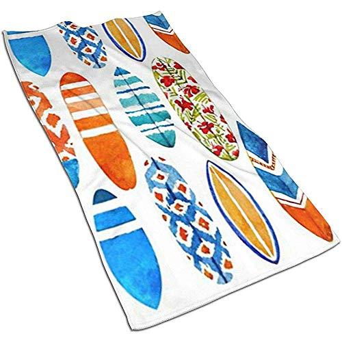 Snbin Acuarelas Tablas de Surf Microfibra Toallas de Mano Toallas Toallas de Secado rápido Toallas Deportivas (40x70cm) Uso para Viajes, Fitness, Yoga