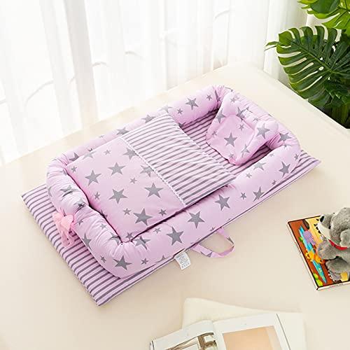 GLYIG Cuna Nido Bebé Reversible Multiuso -100% Algodón Premium -Reductor para Cuna de bebé, Nido de Viaje, Cuna para bebé, Cuna de bebé, Saco de Dormir, reducción de Cuna (Color : 23)