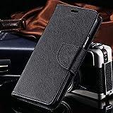 Qlez Diary Style Flip Cover with Megnatic Lock for Lenovo Vibe K5/ K5 Plus (Black)