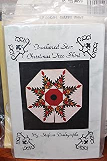 Feathered Star Christmas Tree Skirt Quilt Pattern