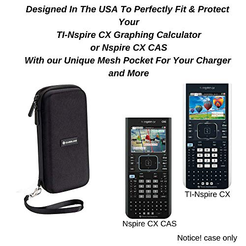 Case Fits Graphing Calculator Texas Instruments TI Nspire CX/CX II/CX CAS | Carrying Storage Travel Bag Protective Pouch Photo #5