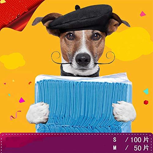 Fijnere 20/40/50/100 stuks gemak wegwerp kat hond urine pad huisdier luier aankleedkussen luier hond mat luierpapier huisdier plassen, l 40 stuks (60x60cm)