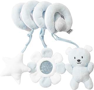 yotijay Cartoon Baby Crib Toys Animal Design Baby Crib Hanging Bell Pram Car Rattle Activity Toy - Blue