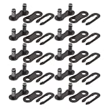 VGEBY Chain Master Link, 10 Set Heavy Duty Durable Steel 410 Chain Master Link, Lightweight Easy to Install Bike Chain Connector Link Bicycle Motorcycle ATV Dirt Bike Accessory