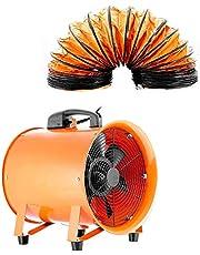 DiLiBee Industriële ventilator, 300 mm, 300 mm, bouwventilator, bouwventilator, bouwventilator + 5 m pvc-slang