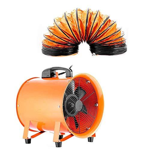 DiLiBee - Ventilador industrial Ventilador Extractor Portátil Axial apuntador taller extractor ventilador taller (300 mm de PVC de 5 m) con Conduit