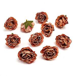 AzXU flores de seda a granel al por mayor al por mayor flores de cerezo de seda, pequeñas rosas artificiales, corona de…