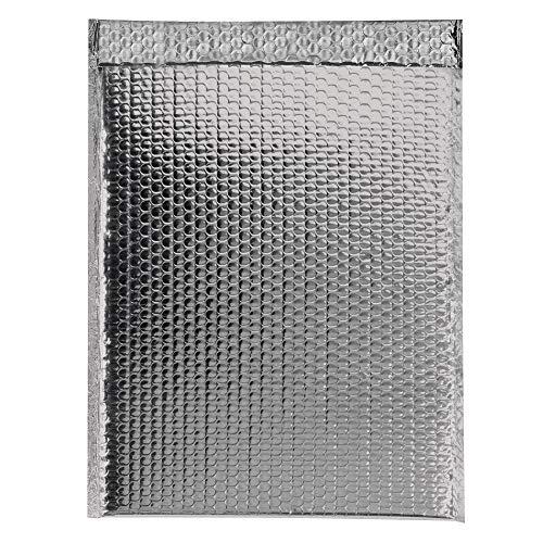 Aviditi Glamour Bubble Mailer Silver GBM1311S Case of 48 11 L x 13-3//4 W