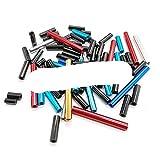 10 piezas M3 negro/rojo/azul claro/azul profundo/redondo aluminio separador columnas redondo aluminio espaciador para RC multirotors-M3 10 piezas, 30 mm, negro