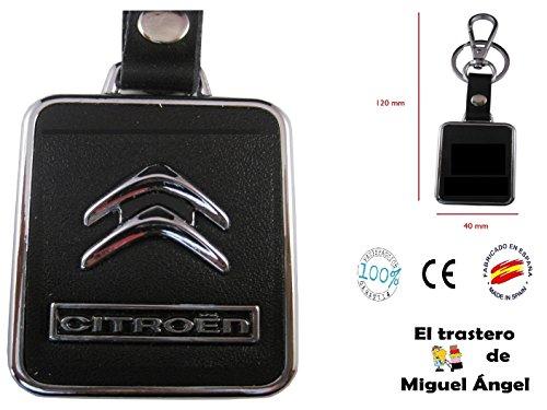 ETMA Llavero Cuero y Metal Compatible con Citroen lla017-6