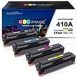 GPC Image 4 Pack 410A- Compatible para HP 410A CF410A 410X CF410X Cartuchos de tóner para HP Color Laserjet Pro MFP M477fdw M477fnw M477fdn M452nw M377dw M452dn M452dw M477 M452 M377(1B/1C/1M/1Y)